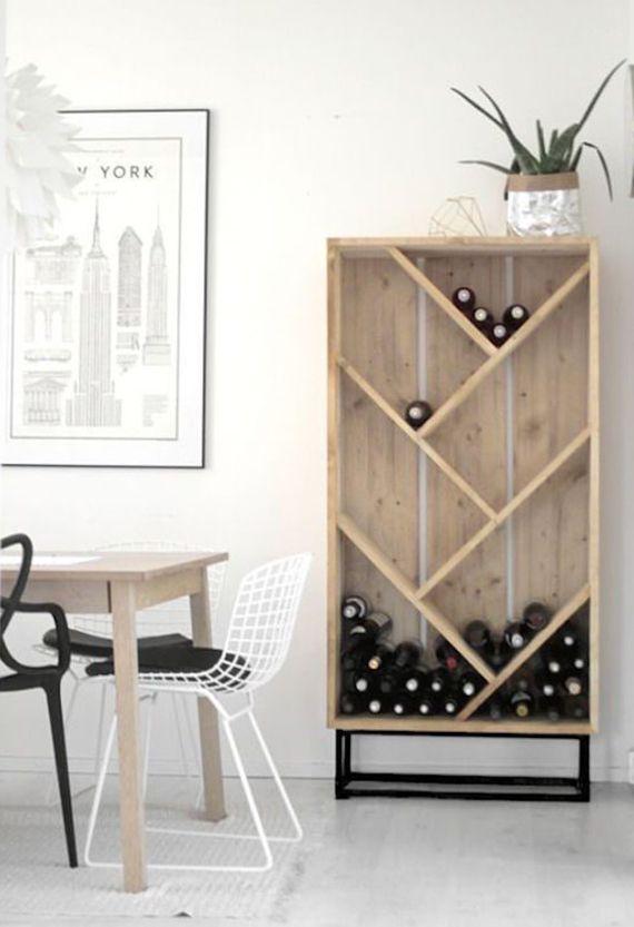 so einfach kann man ein eigenes weinregal selber bauen m bel pinterest weinregale regal. Black Bedroom Furniture Sets. Home Design Ideas