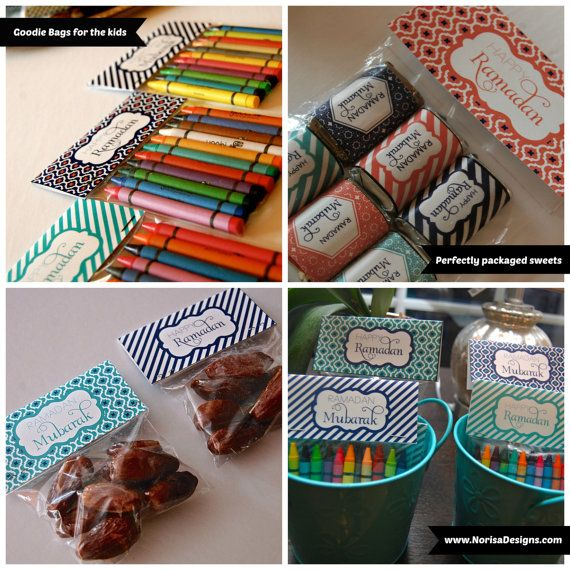 Ramadan Treat Bag Toppers   4 Inches {Istanbul Collection