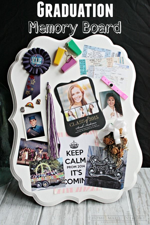 This Graduation Memory Board Is A Simple Diy Craft To Display High
