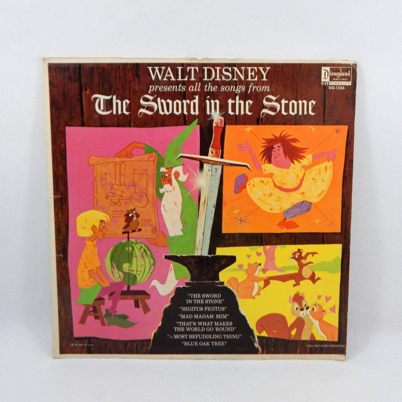 RARE Disney The Sword In The Stone 33 1/3 Vinyl Record Children ...