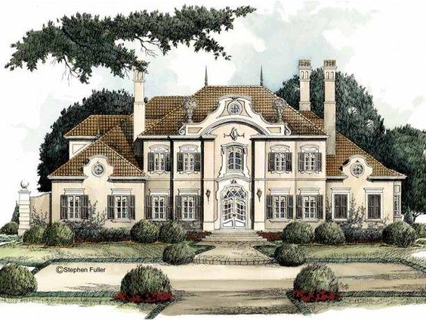 European Style House Plan 4 Beds 3 5 Baths 5235 Sq Ft Plan 429 9 Dream House Plans Luxury House Plans Cottage House Plans