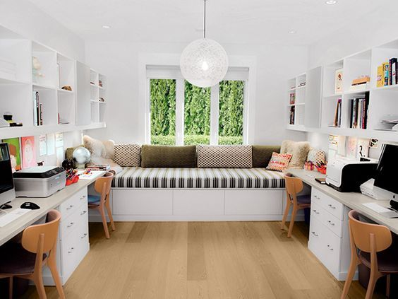 30 Modern Home Office Ideas And Designs For The Family Renoguide Australian Renovation Ideas And Inspiration Cozy Home Office Guest Room Office Home Office Design