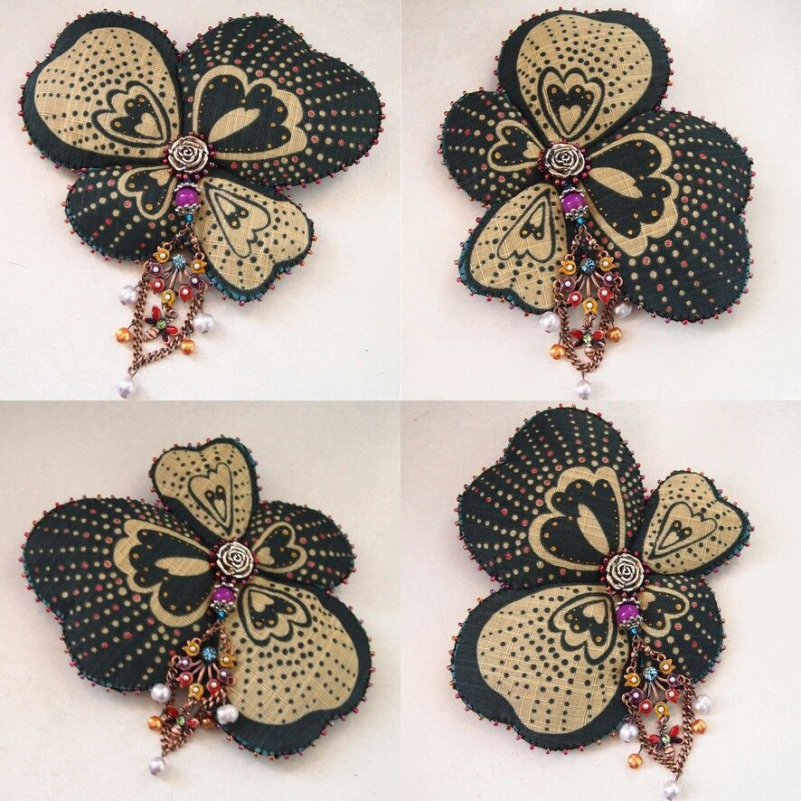 Handmade accessories flower floral  bohemian vintage necklace pendant brooch
