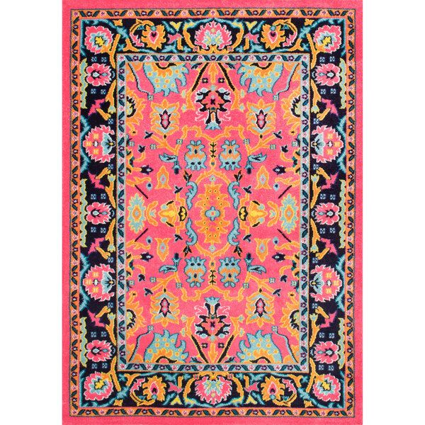 nuLOOM Vibrant Floral Persian Pink Rug (8\' x 10\') | Area Rugs ...
