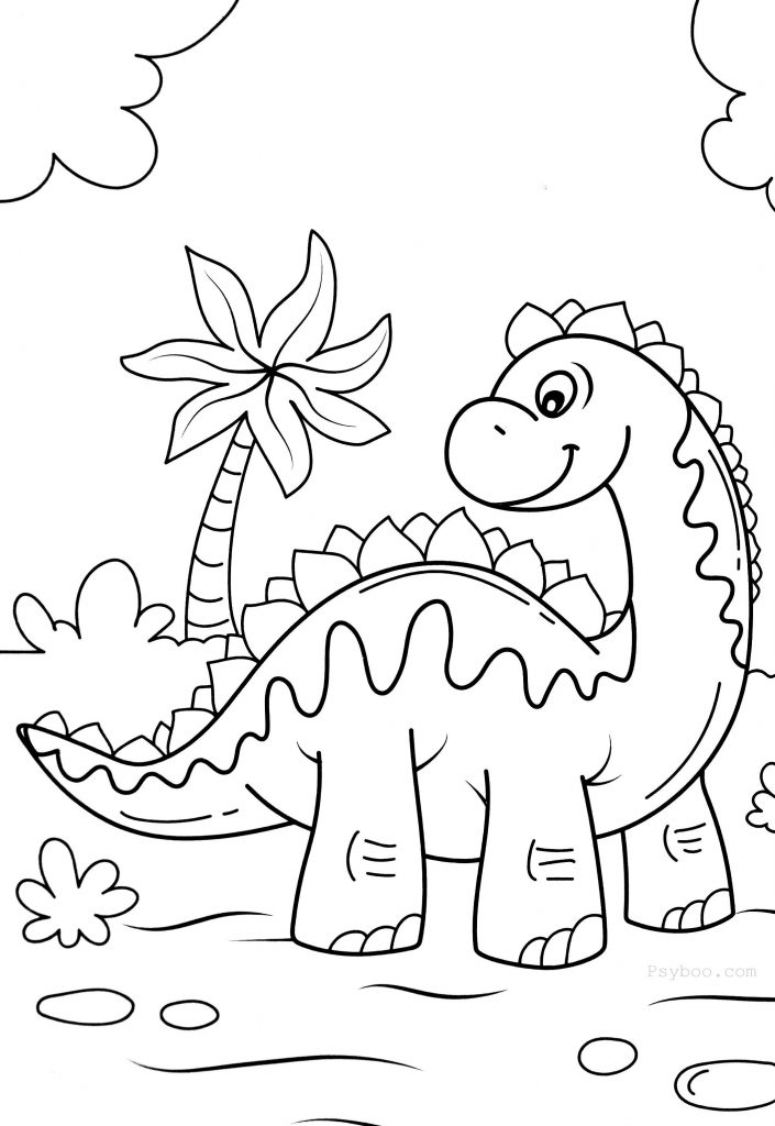 Stegosaurus Coloring Page Free Coloring Pages For Print Coloring Pages Free Coloring Pages Dinosaur Coloring Pages