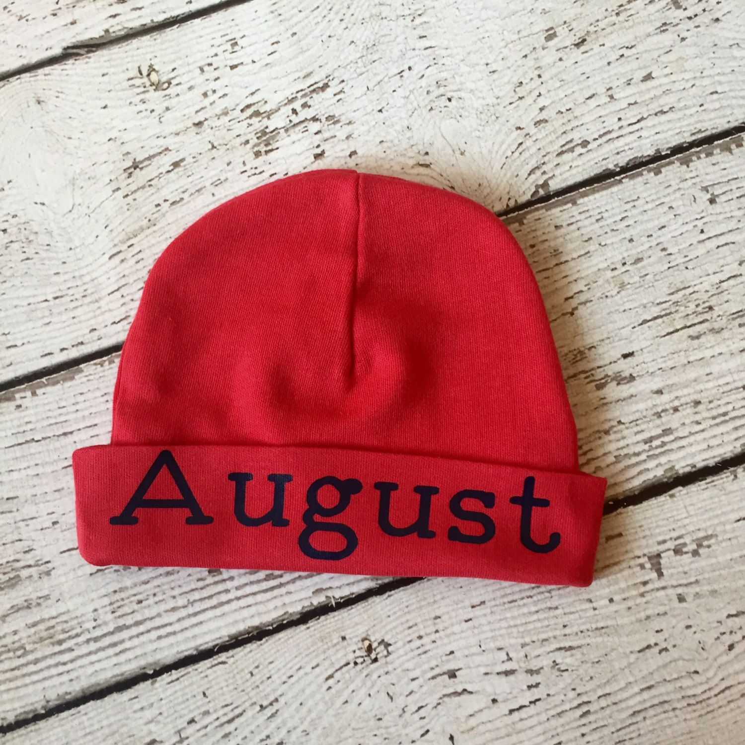 56caa65bc78 New item at TheNewBabyBoutique Boutique Red Personalized newborn boy ...