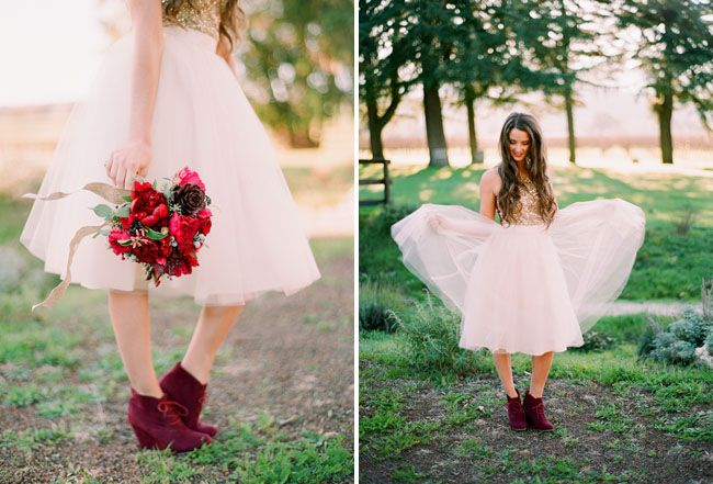 Gold Red Wedding Inspiration On Valentines Day