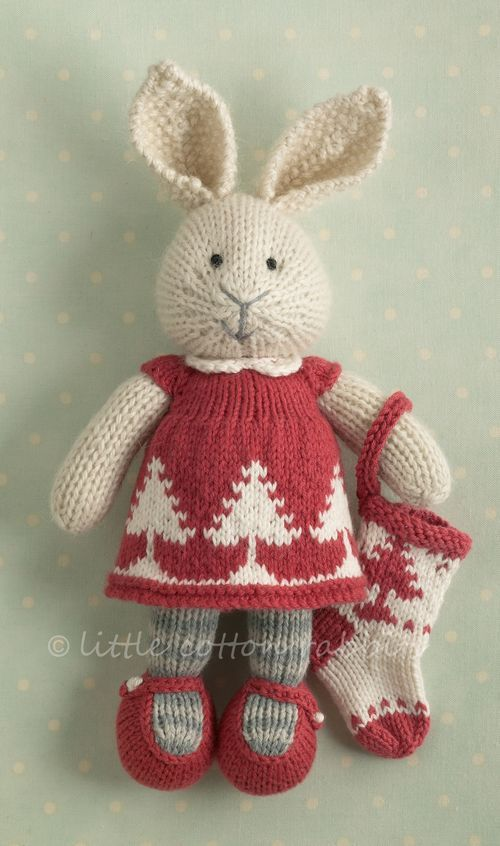 Sweet Knitted Bunny Dressed Up For Christmas This Artist Makes The