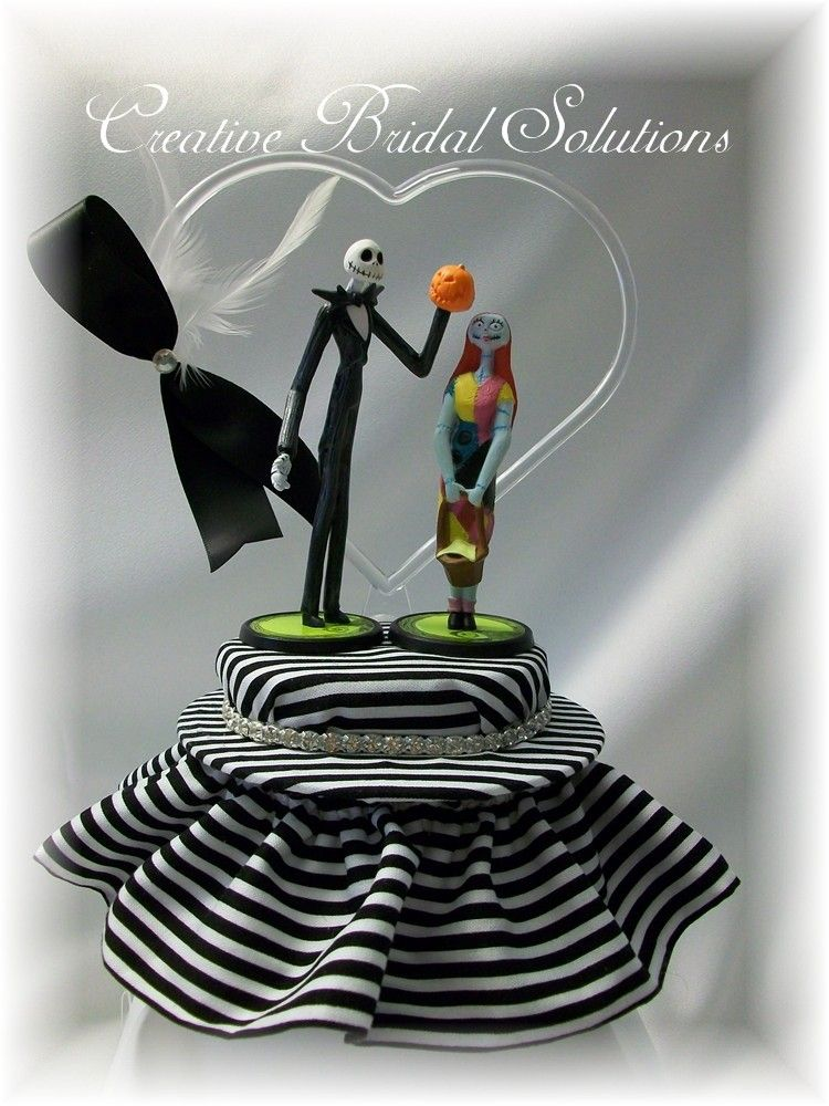 jack and sally wedding cake topper and sally the nightmare before wedding cake 16559