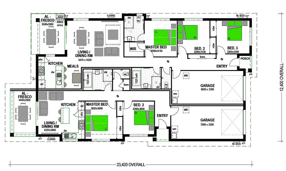 Dual Living House Plans | Nabelea.com