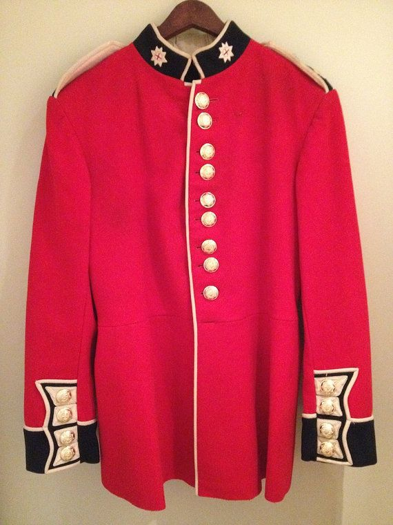 British Military Jacket Mod - Coldstream Army Guards Coat / Tunic ...