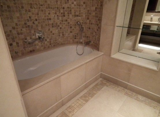 Minimalist Bathtub Tile Design Ideas Bathrooms Pinterest Tile