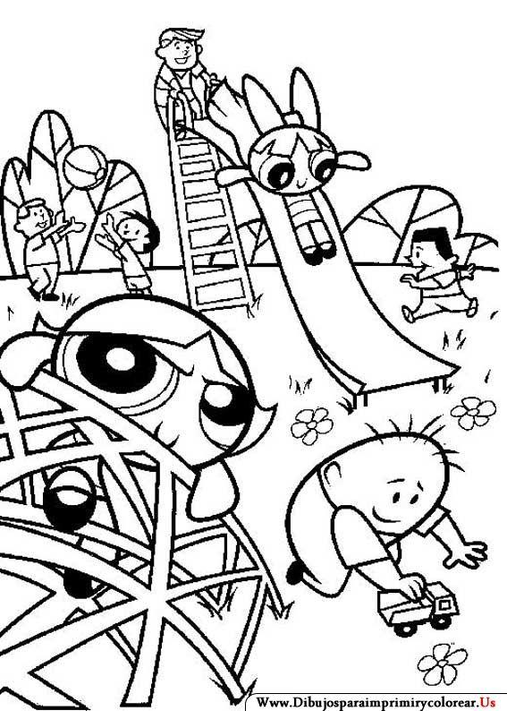 Dibujos de Las Chicas Superpoderosas para Imprimir y Colorear | para ...