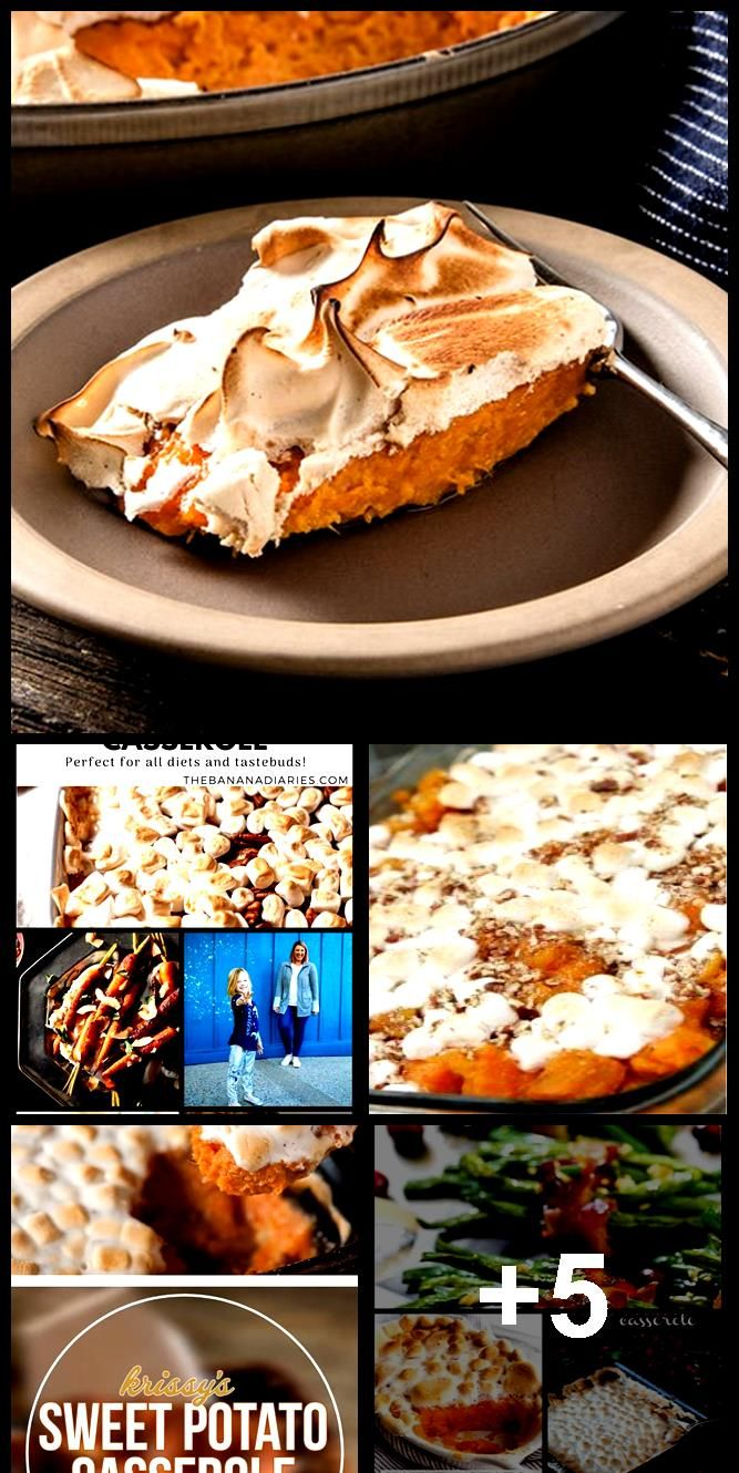 Baked Sweet Potato Casserole With Marshmallows for Two #sweetpotatocasserole