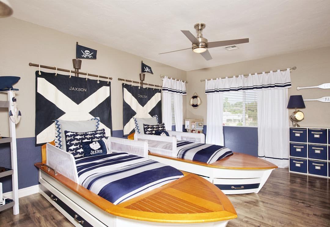 Boys Room Nautical Rooms Boat Bed Beach Pirate Theme Pottery Barn Kids Children S Nursery Interior Design Interior Design Bedroom Bedroom Interior
