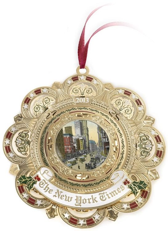 Classically Gorgeous New York Times Ornament  Ornament Reviews