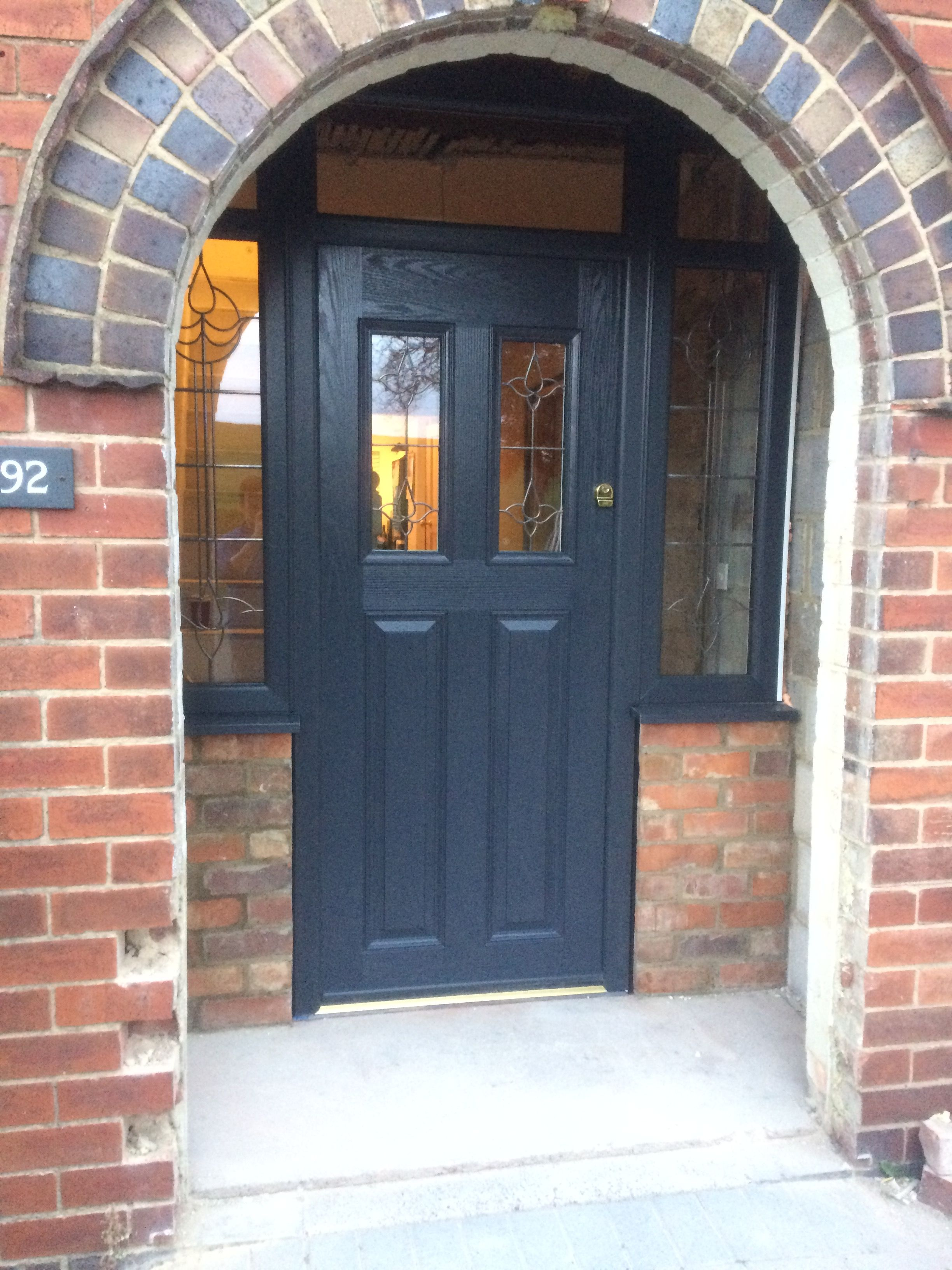 1930s Storm Porch Front Door Composite Door Anthracite