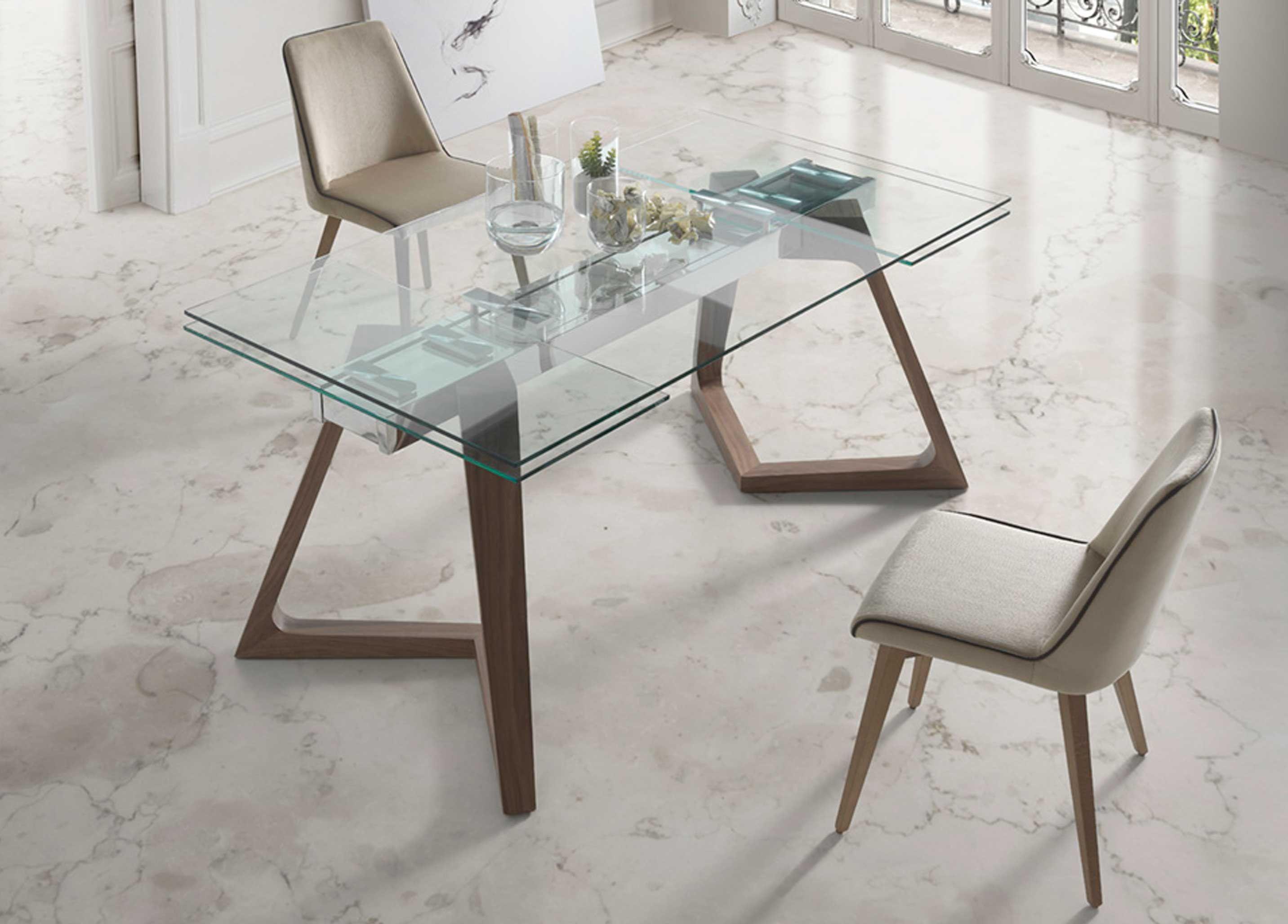 Mesas De Jantar Extens Veis Com Tampo Em Vidro Extendable Dining  # Neat Muebles Merida