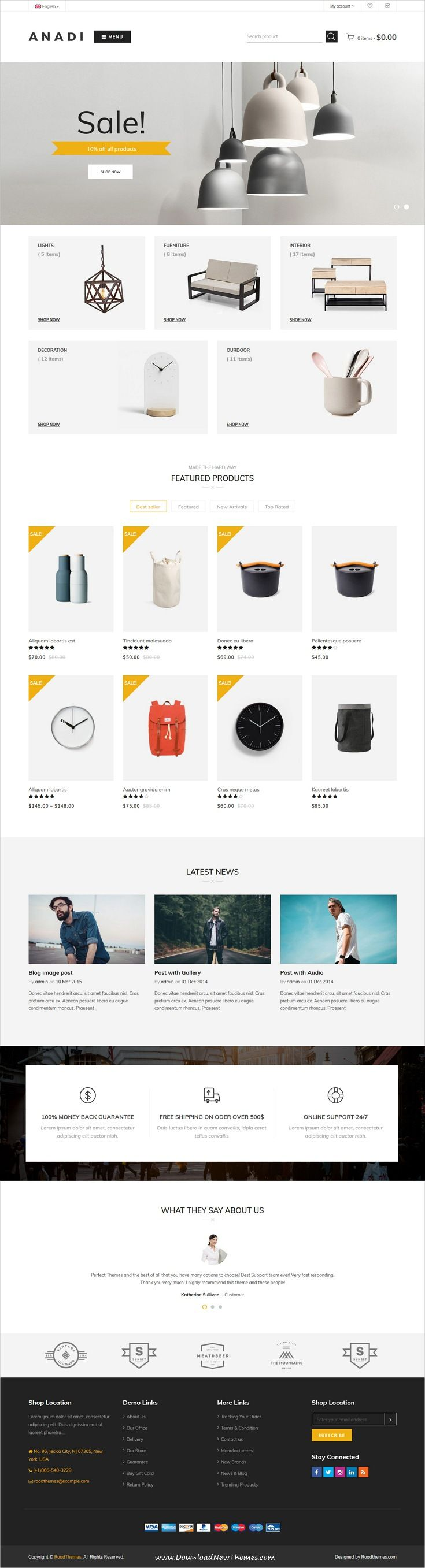 Anadi is clean and modern design 4in1 responsive WooCommerce ...