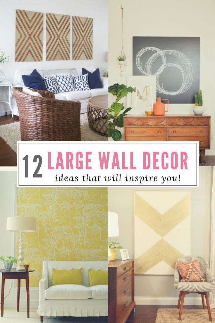 12 Affordable Ideas For Large Wall Decor Family Room Walls Diy