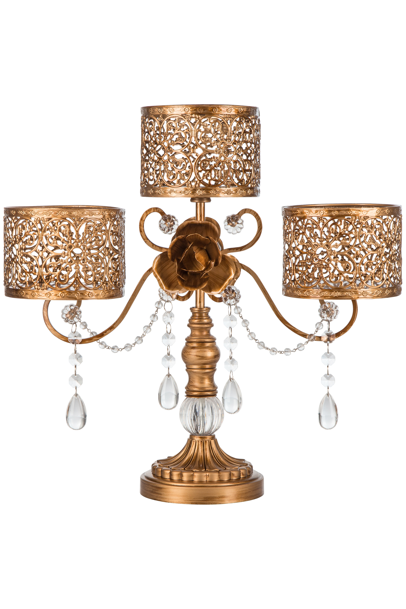 Antique 3-Pillar Candle Holder | Gold | Victoria Collection ...