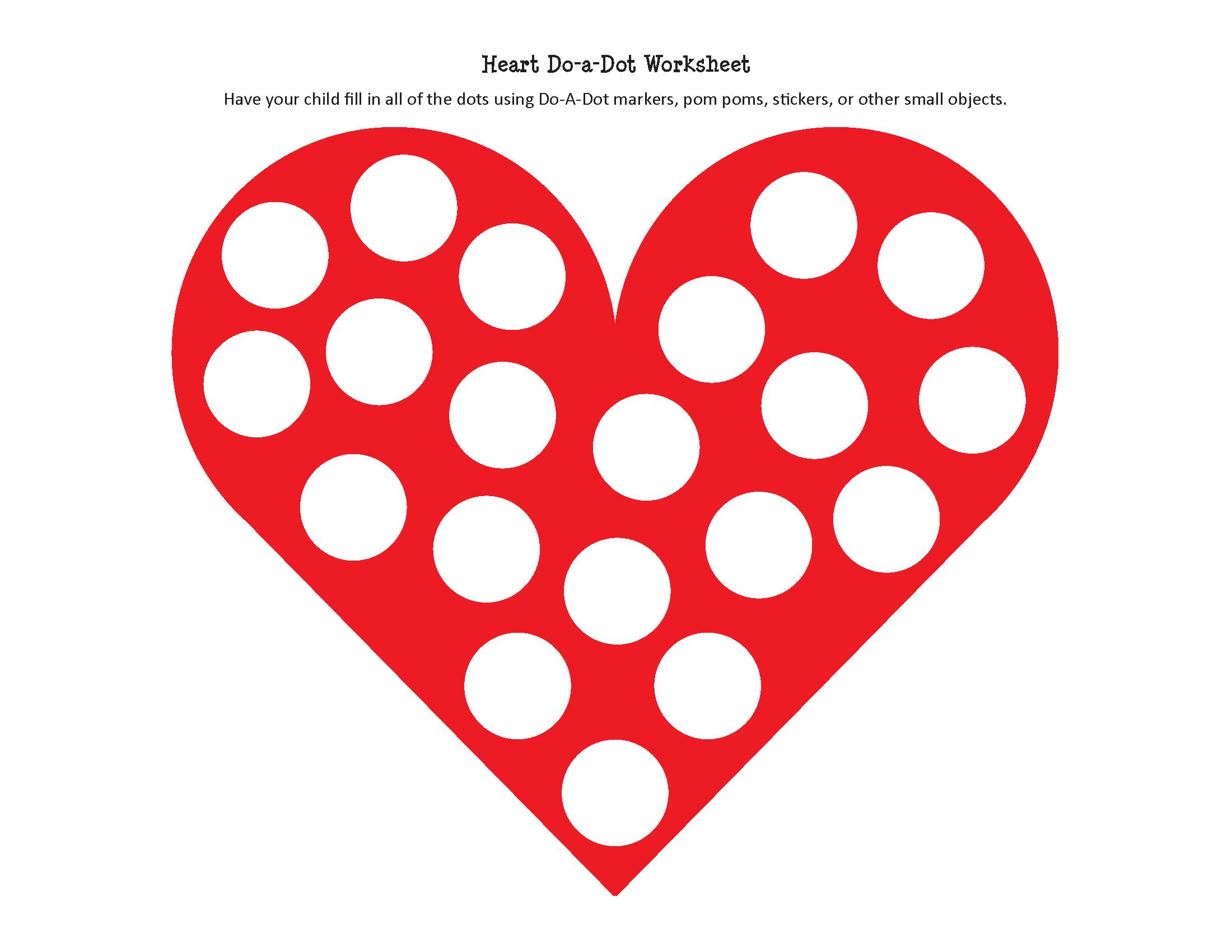 Heart Do A Dot Worksheet
