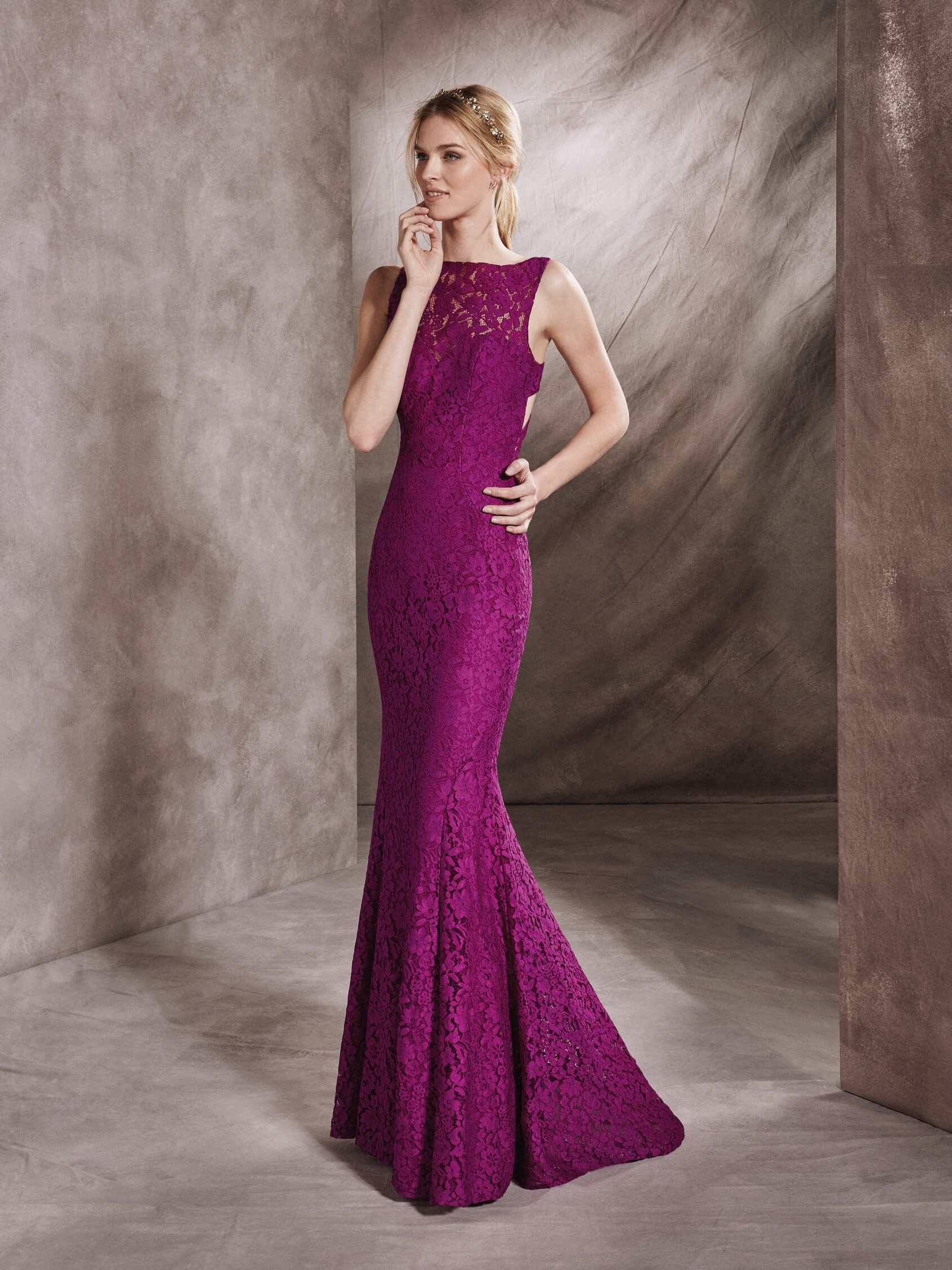 St. Patrick | Mermaid style cocktail dress in lace with bateau ...
