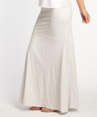 Silver Stripe Reversible Organic Maxi Skirt by Indigenous #zulily #zulilyfinds