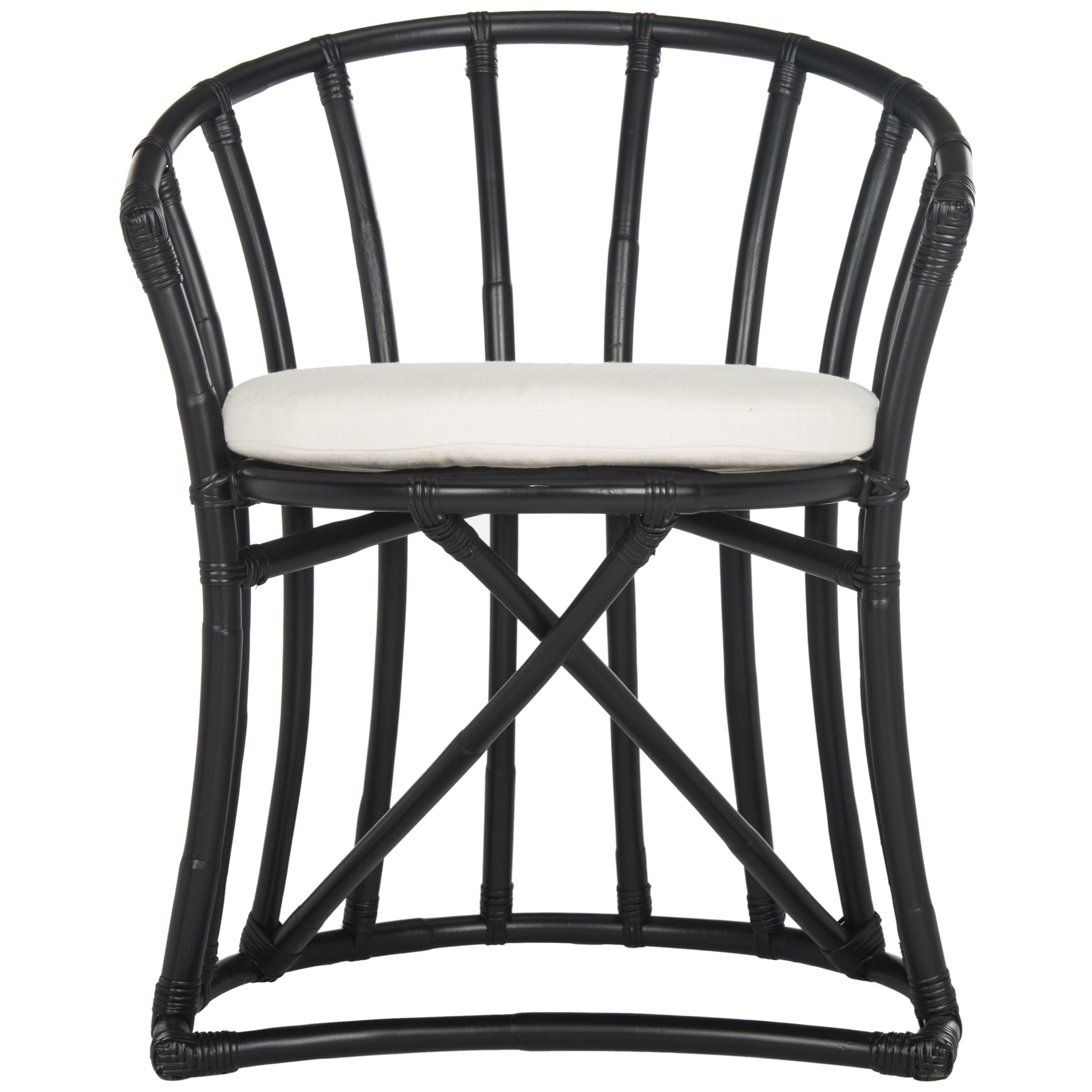 Safavieh Bates Rattan Accent Chair Wik6500a Black In 2019