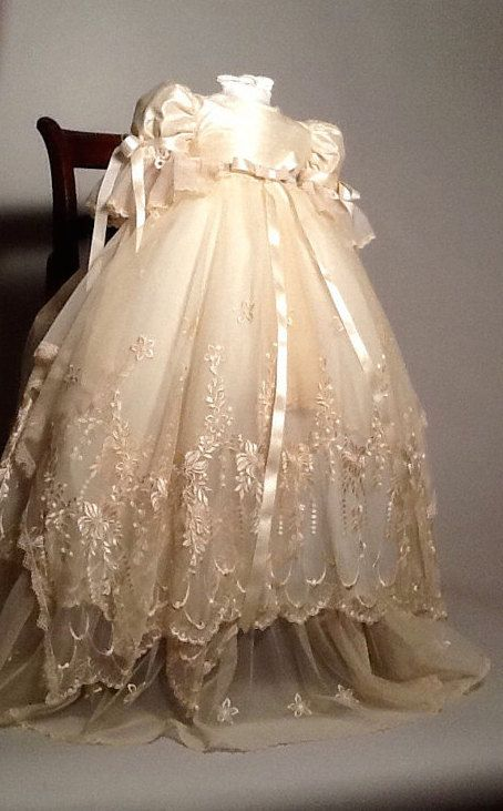 Yessenia-christening lace gown-vintage baptism-heirloom gown bautizo ...