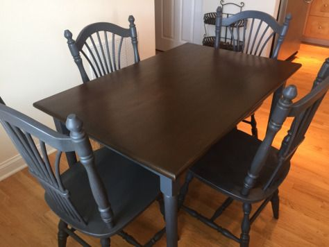 Butcher Block Kitchen Table And Chairs : Butcher block table and chair makeover WOW! Furniture Redo Kitchen decor, Coffee table ...