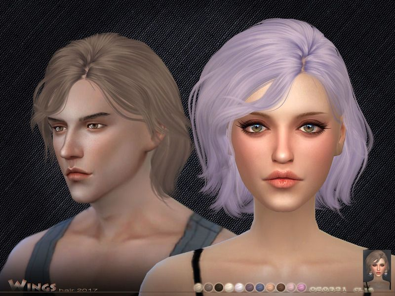 This hair style has 16 kinds of color  Found in TSR Category 'Sims 4 Female Hairstyles'