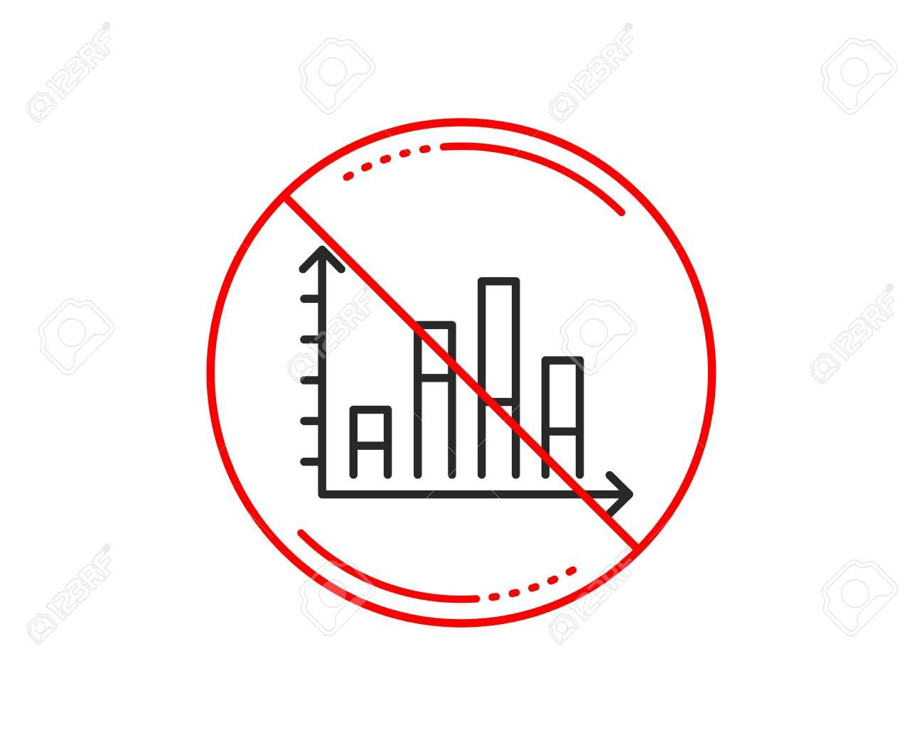 No Or Stop Sign Diagram Graph Line Icon Column Chart Sign