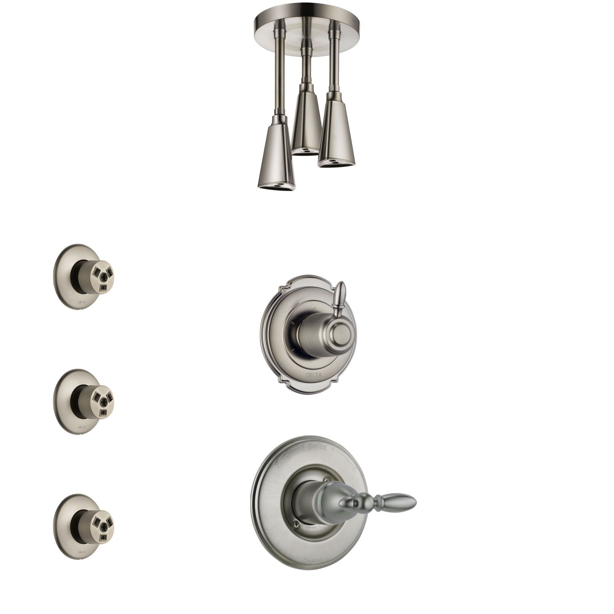 Delta Victorian Stainless Steel Finish Shower System With Control