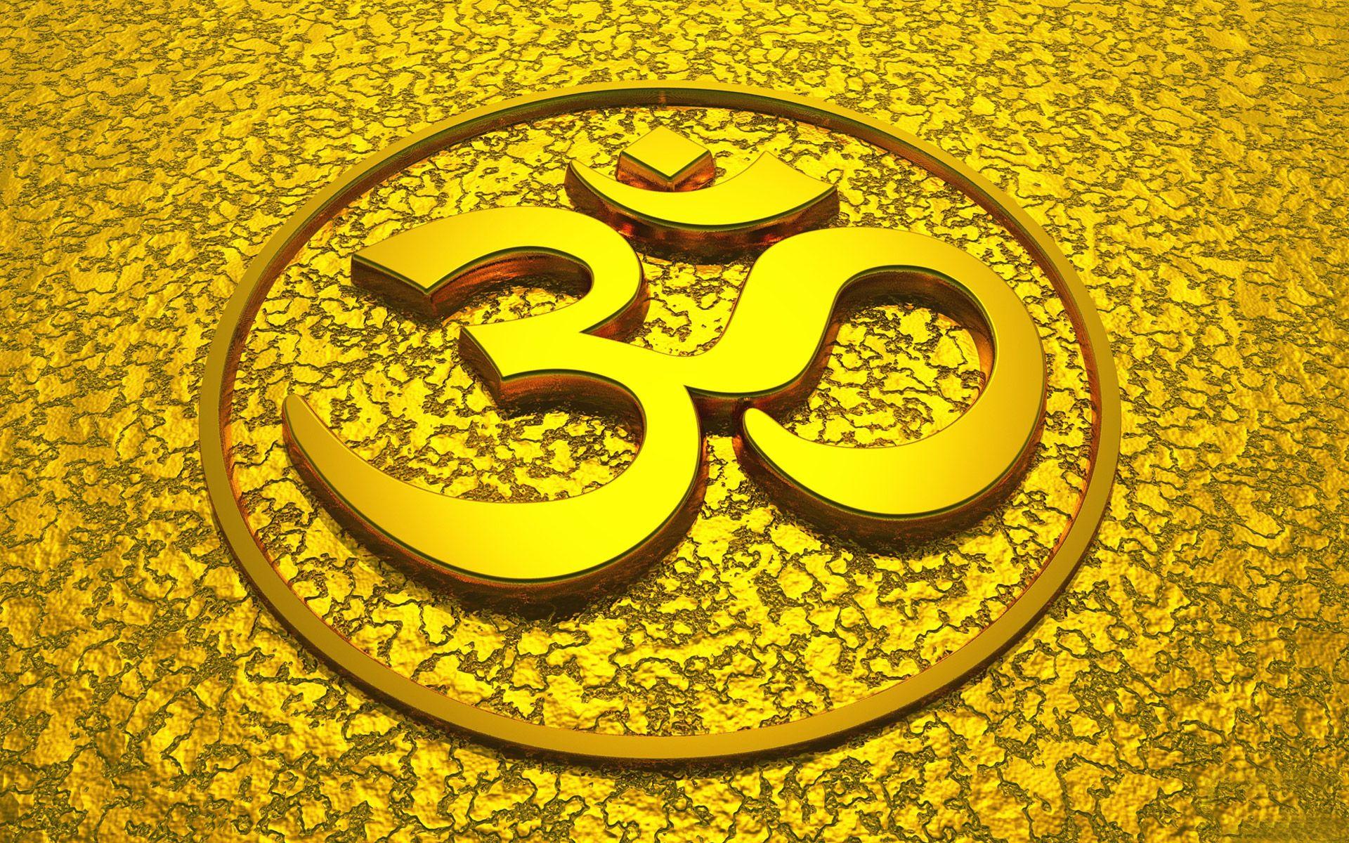 Om hindu god symbol in yellowg 19201200 india pinterest hindu symbols biocorpaavc Image collections