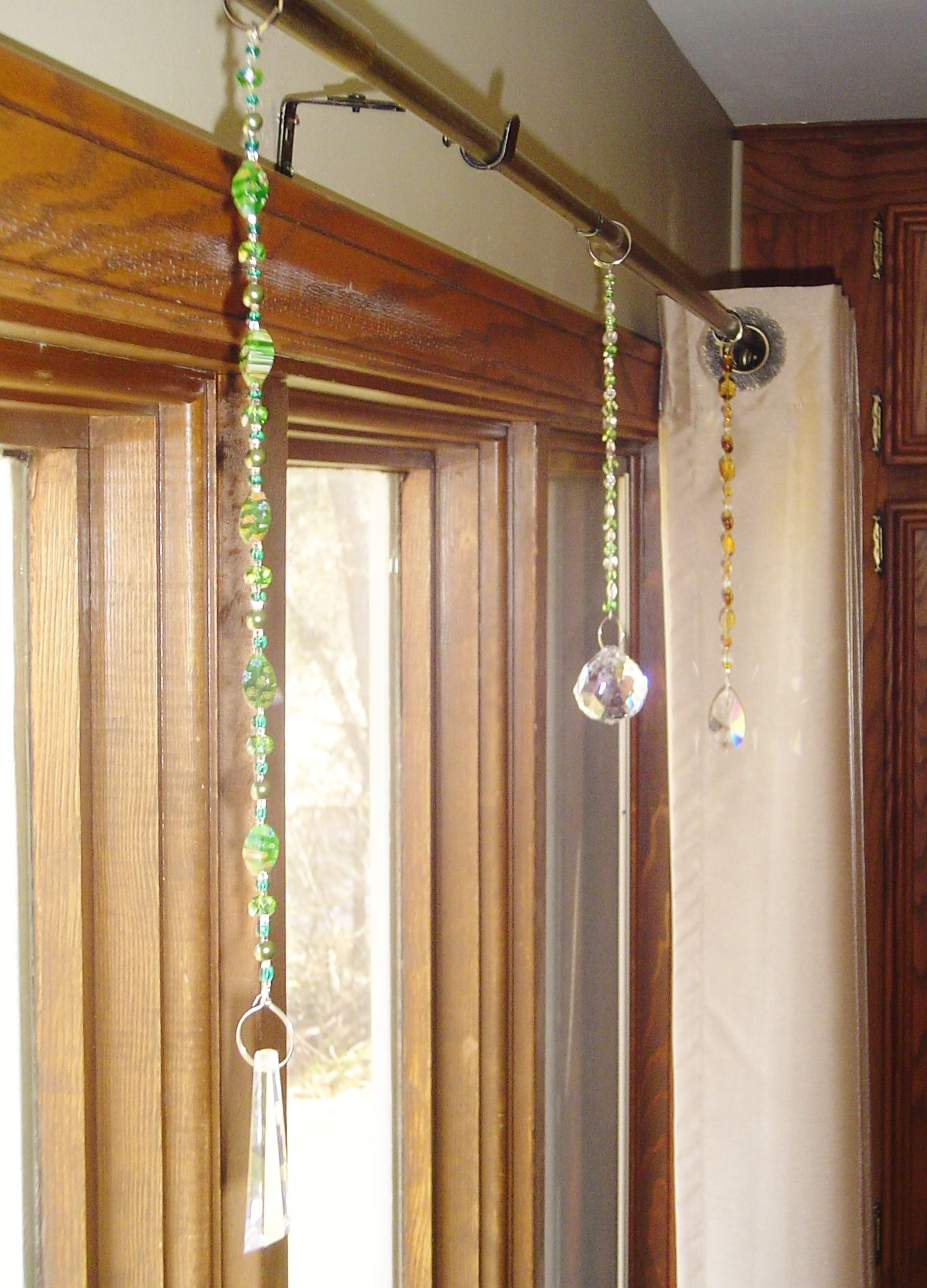 Crystals Hanging From Curtain Rod Crystals Decorating 101