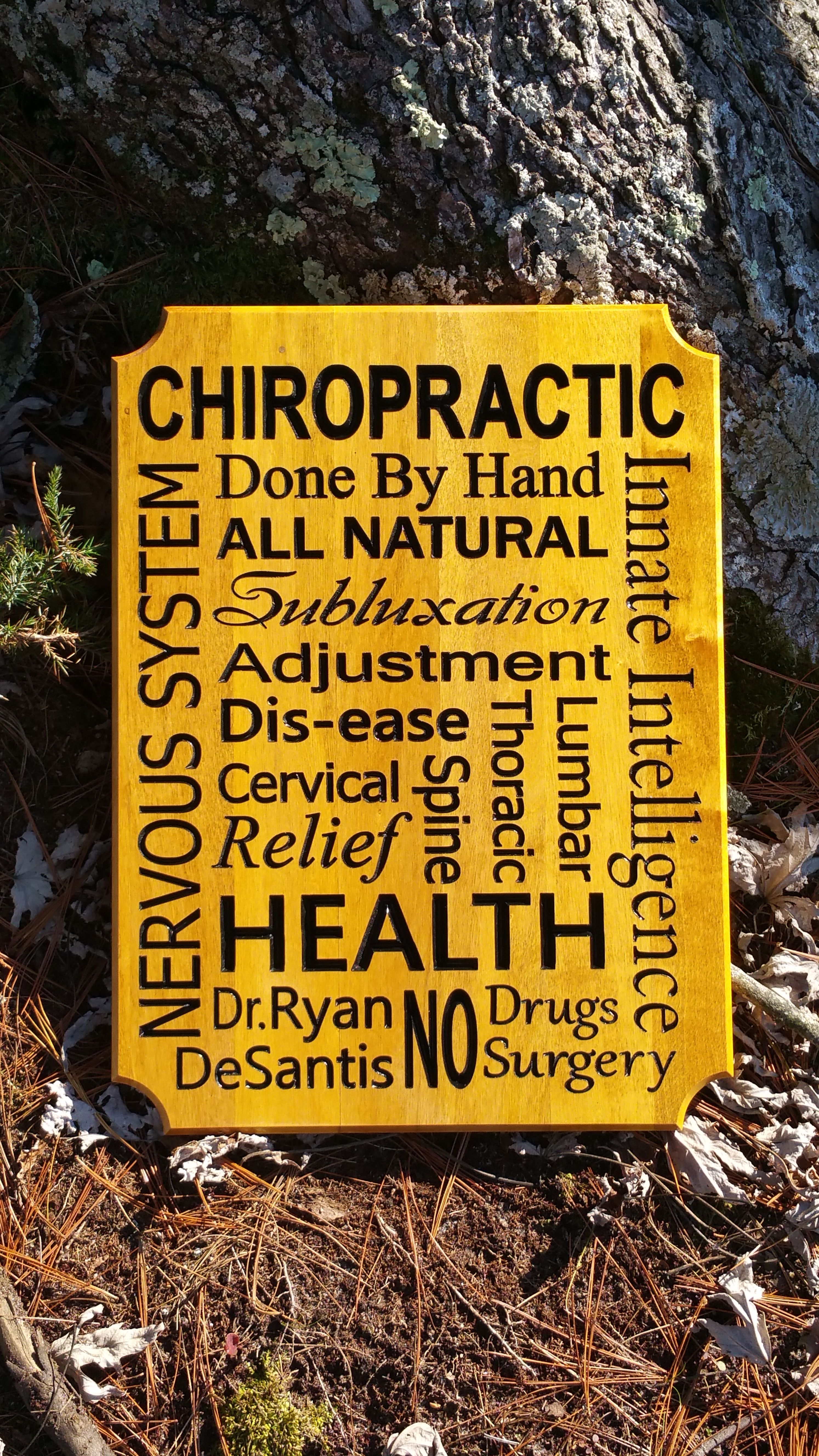 Chiropractic Wall Decor by Green Cottage Designs! This sign is ...