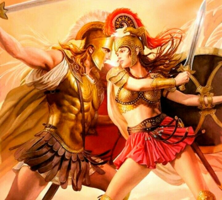 the story of ares and athena and apollo and daphne are similar