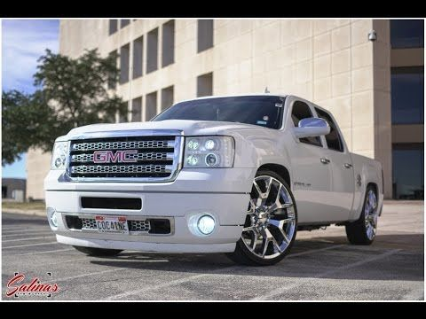 Dropped Gmc Sierra Crewcab With A Hd Denali Front End Conversion On 26s Youtube Gmc Sierra Sport Truck Gmc Trucks