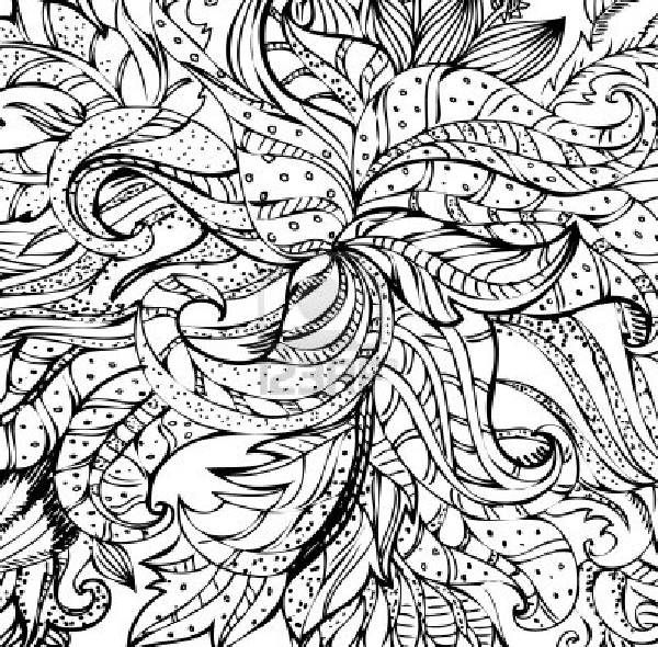 modern art coloring pages | Gallery Abstract Flowers Coloring Pages