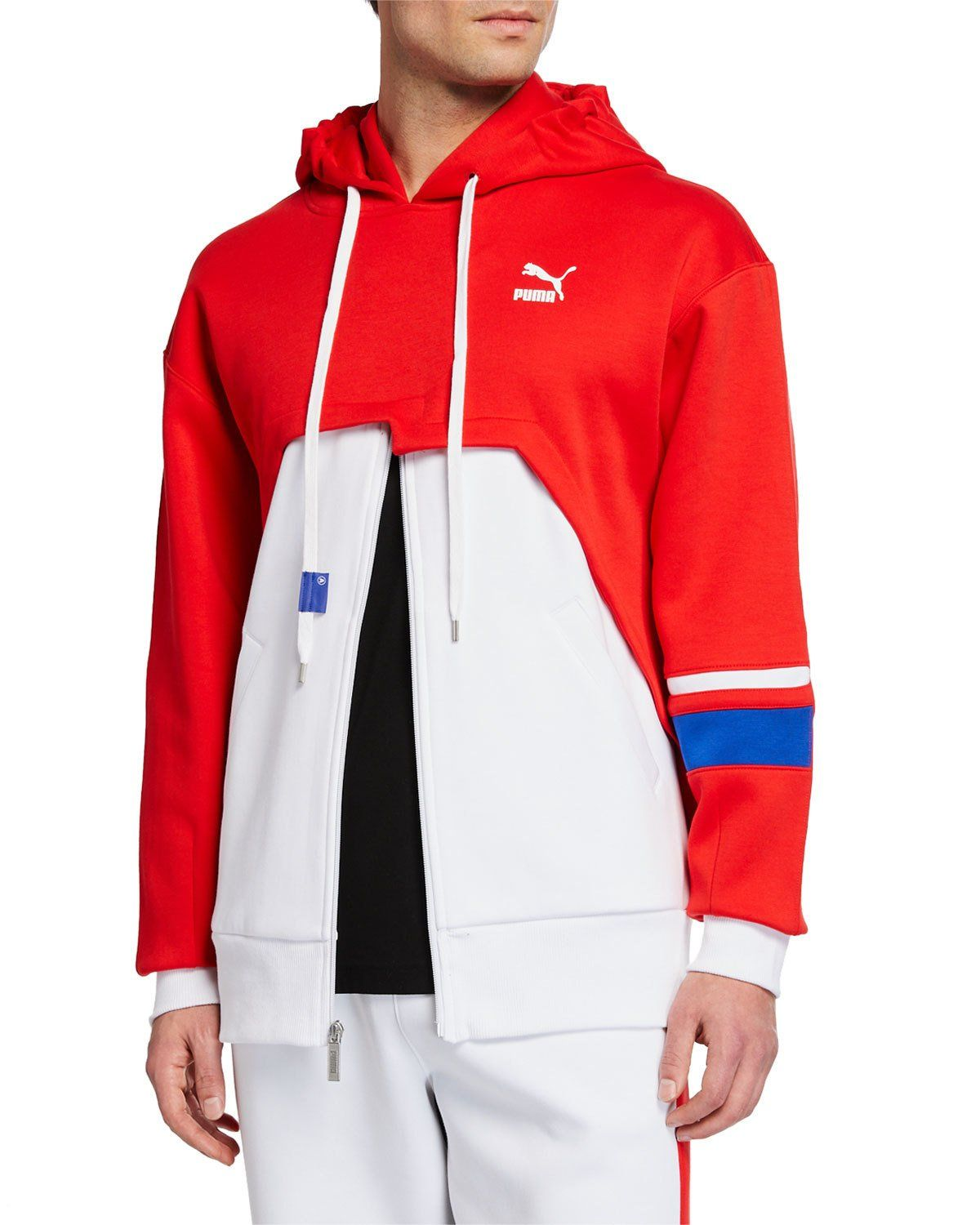 a4e0102abde3 PUMA MEN S X ADER COLORBLOCK ZIP-FRONT HOODIE.  puma  cloth