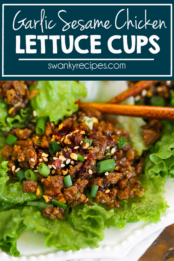this homemade version of asian chicken lettuce cups is
