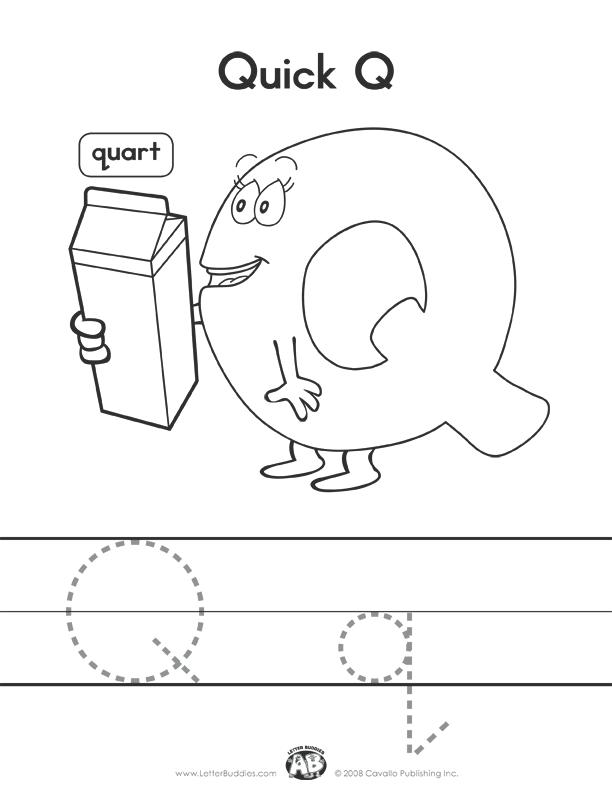 Print Quart Quick Alphabet Coloring Pages