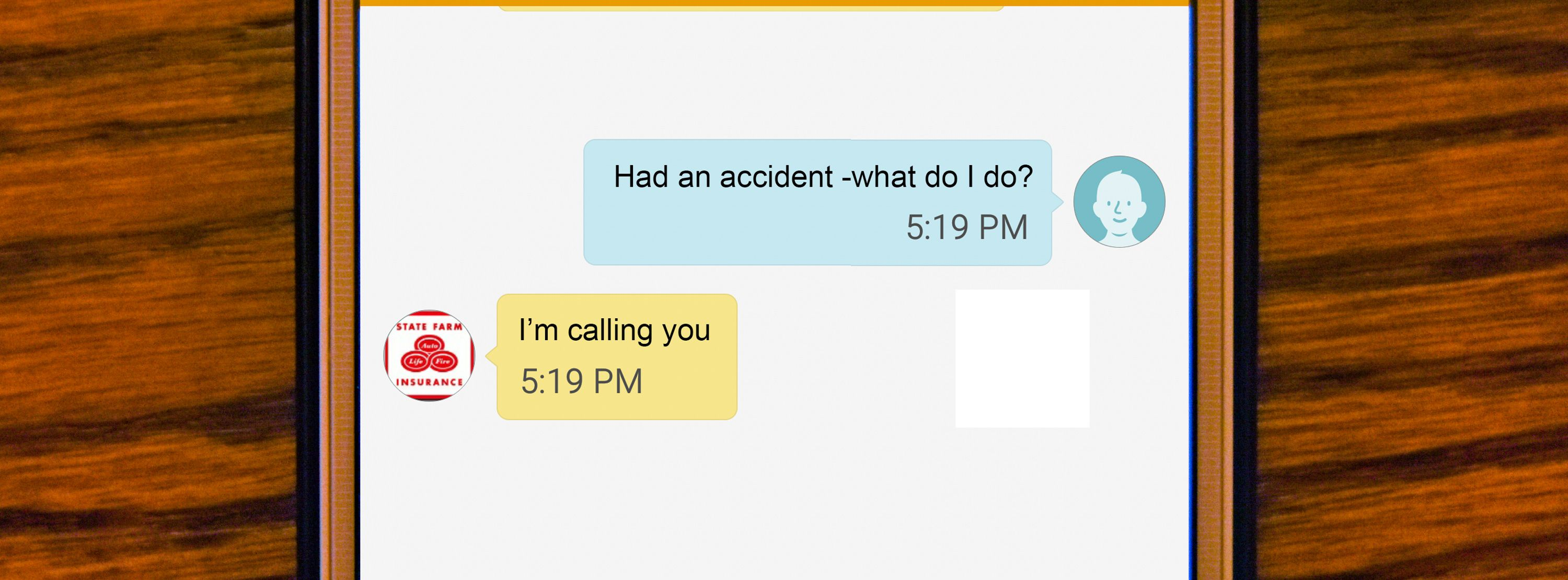 Can you text your insurance agent if you need help? Craig