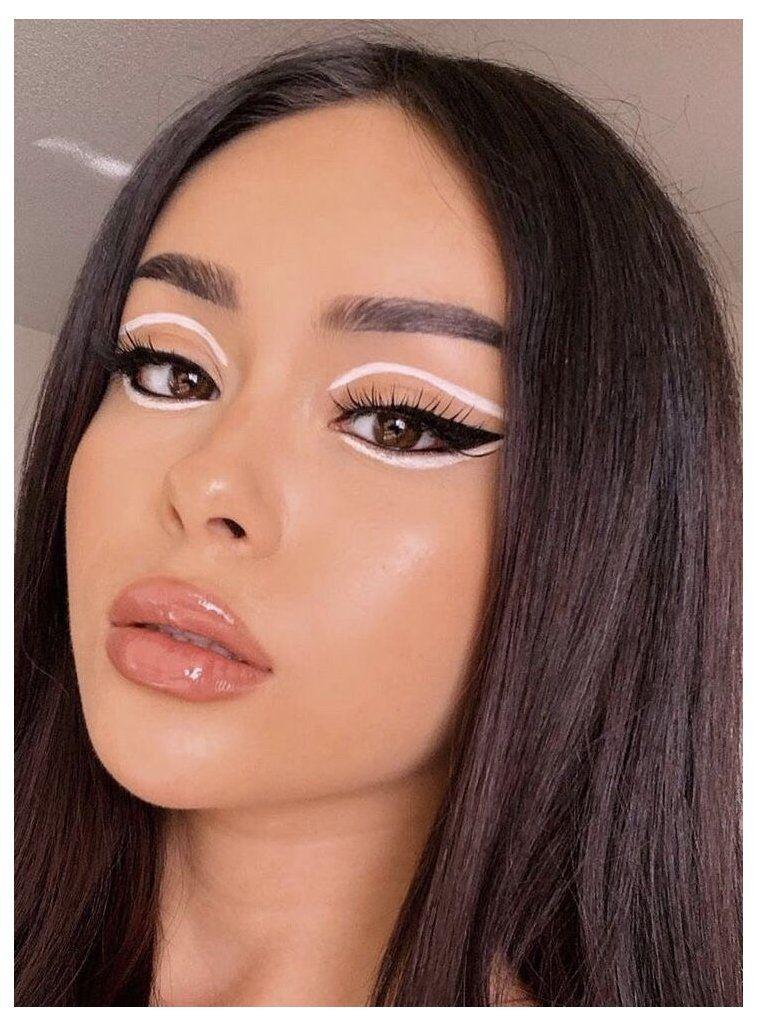 creative makeup look eye art makeup