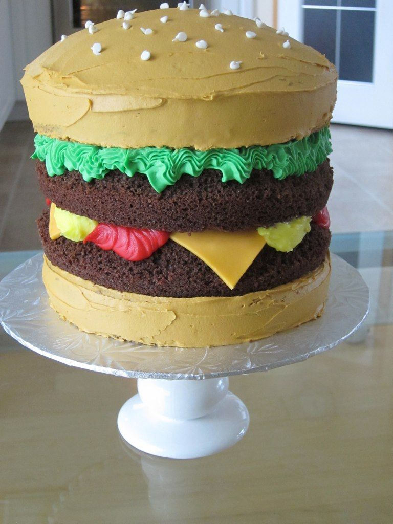 Tremendous Hamburger Cake Why Have I Never Thought Of This Before With Funny Birthday Cards Online Inifodamsfinfo