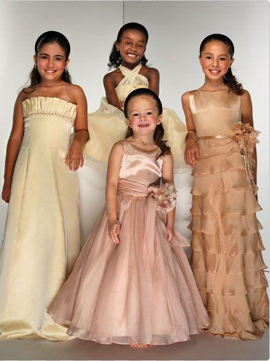 wedding flower girl dresses - pretty but children shouldnt wear strapless gowns.