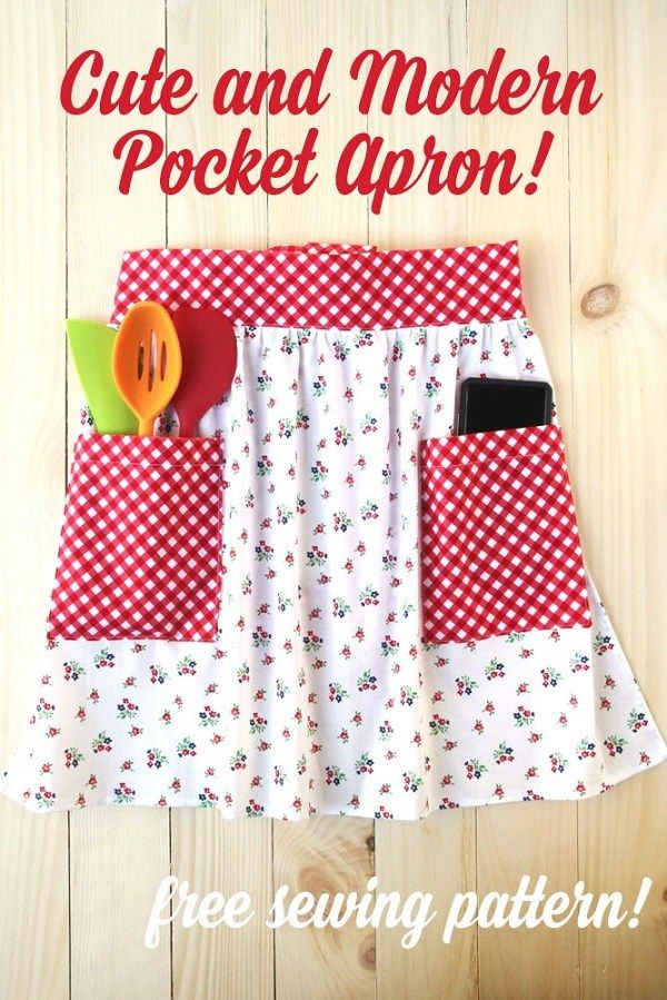 tutorial: Easy pocket apron #beginnersewingprojects