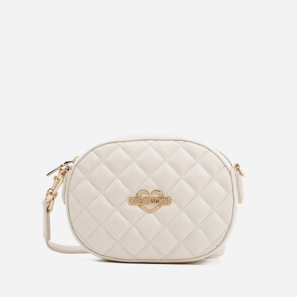 9f892ac49606 Love Moschino Women s Quilted Round Small Cross Body Bag - Ivory We ve got  top