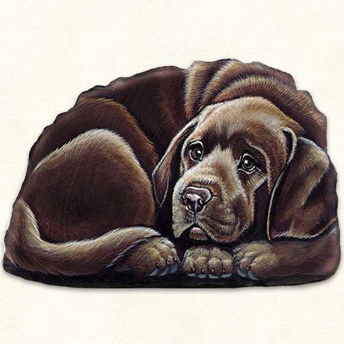Chocolate Labrador Retriever Puppy pupperweight paperweight USA made